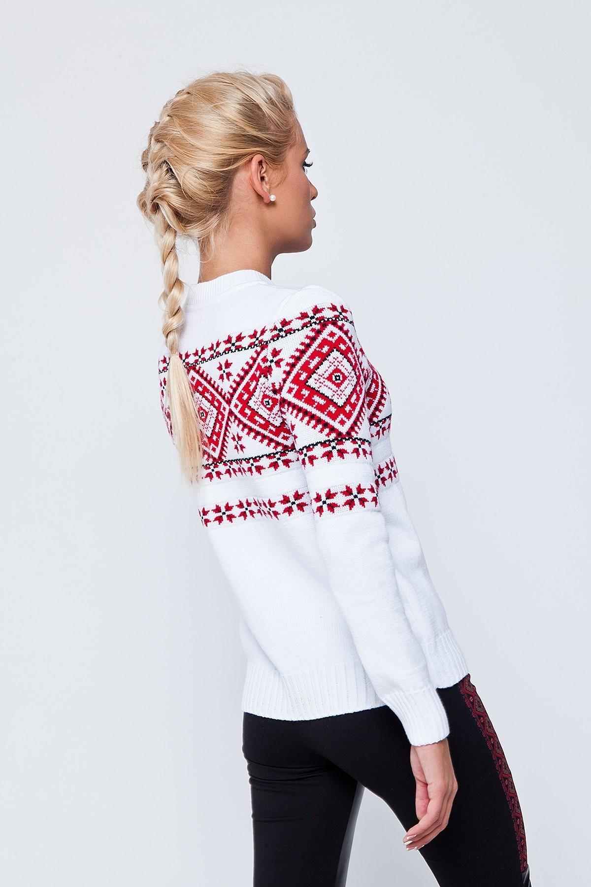 Женский свитер с орнаментом купить доставка