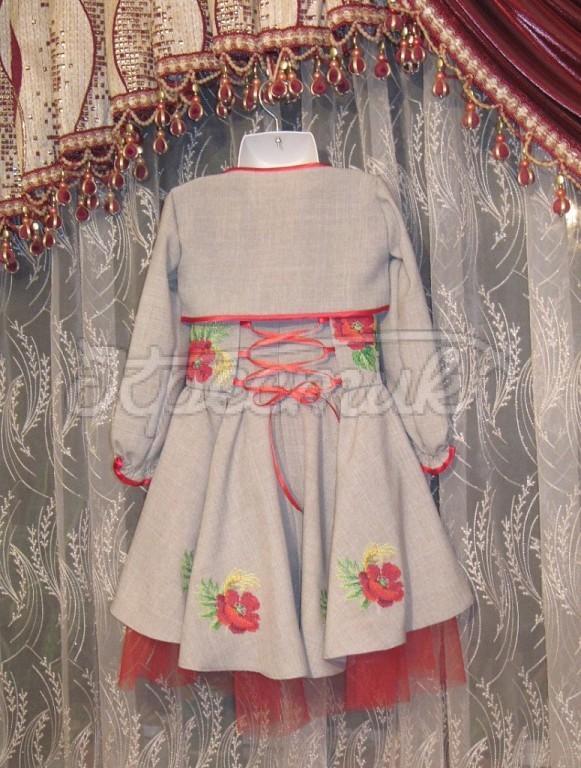 Красивое вышитое платье для девочки