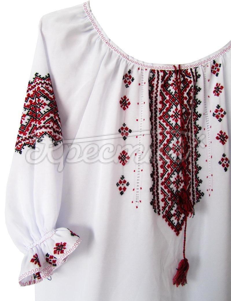 Вишиванка для дівчинки на шифоні. Легкая детская вышиванка купить Киев 577e85bf3d0bd