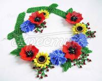 Комплект украшений цветы бисер заказать Украина