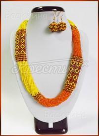 Оранжевый набор украшений купить Киев