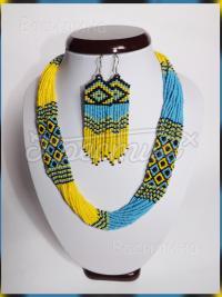 Украинские сережки из бисера