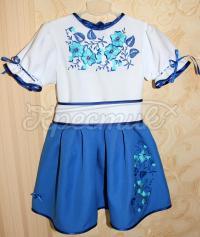 """Дитяча сукня """"Блакитна квіточка"""" фото"""