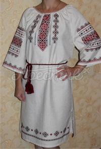 """Жіноча вишита сукня """"Хрестики"""" фото"""