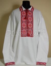 Купити чоловічу вишиванку зі сваргами хрестиком