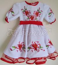 """Дитяче плаття вишиванка """"Червона лілія"""" фото"""