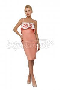 Коктельна сукня з воланом придбати