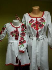 Парні сукні для мами і доньки Маки фото