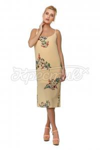 Шифонове плаття на бретелях з принтом і зав'язкою придбати