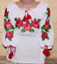 """Жіноча вишиванка """"Рожеві троянди"""" придбати"""