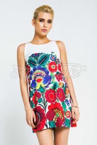 Легка літня жіноча сукня хохлома фото