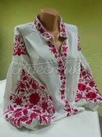 Женская вышиванка Цветочное пламя фото
