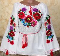 """Вишита жіноча блузка """"Квіткове поле"""" фото"""