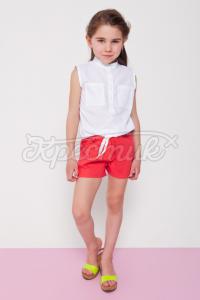 Дитячі лляні шорти червоні фото