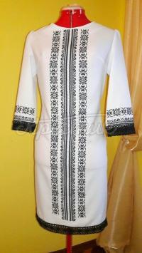 """Жіноча вишита сукня """"Чорне на білому"""" придбати"""