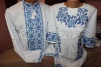 """Парные вышиванки """"Голубки"""" фото Крестик Киев"""