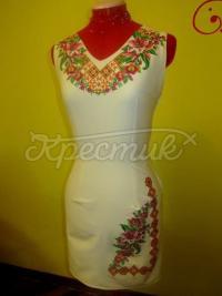 """Жіноча вишита сукня """"Рожеві лілії"""" замовити"""