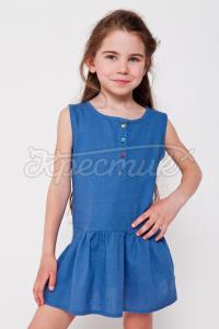 """Літній дитячий сарафан """"Джинс"""" фото"""