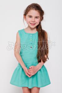 """Літній дитячий сарафан """"М'ятна цукерка"""" фото"""