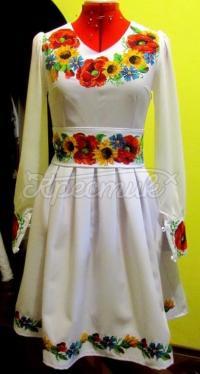 """Жіноча вишита сукня """"Польові квіти"""" придбати"""