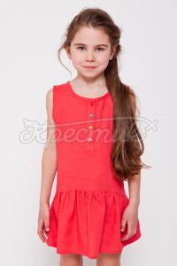 Літній сарафан для дівчинки червоний фото