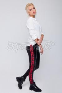 Жіночі штани з квітковим принтом фото