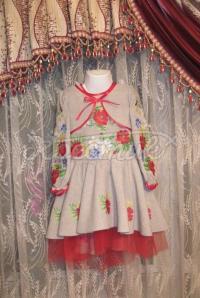 """Красиве вишите плаття для дівчинки """"Поле маків"""" фото"""