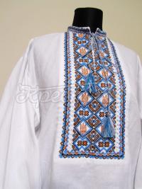 Чоловіча вишиванка з тризубами купити Київ