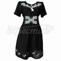 Ошатне українське плаття на чорному льоні