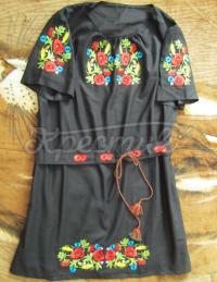 Сукня вишиванка з польовими квітами купити Київ