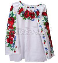 Жіноча сорочка вишиванка ручної работи з маками