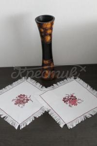 Набір серветок з вишивкою «Виноград» купити Київ