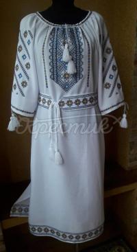 """Жіноча сукня вишиванка з габардину """"Шарм """" фото"""