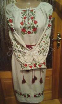 Жіноча вишита сукня Трояндочка придбати