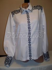 """Женская вышитая рубашка """"Классика"""" фото"""