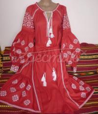 """Червона жіноча сукня """"Роксолана"""" фото"""