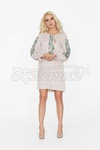 Стильне плаття з принтом вишивки придбати