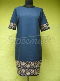 Женское вышитое платье магический цвет фото
