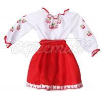 Вишита блузка і спідниця для дівчинки