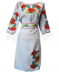 Купити вишиту сукню з маками