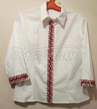 Вышитая крестиком женская рубашка