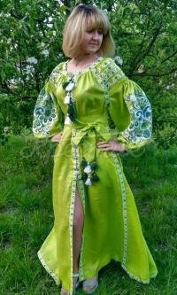 Жіноча вишита сукня Німфа придбати