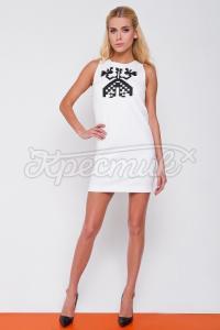 Українське плаття вишиванка з принтом богині Макоші