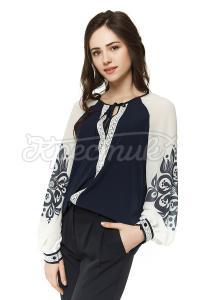 Шифонова блуза синя придбати