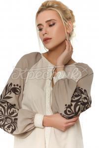 Шифонова блуза бежева придбати