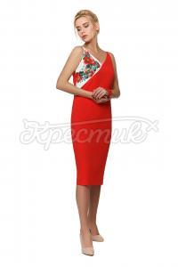 Елегантна чевона сукня придбати