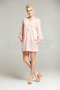 Льняна сукня з мереживом придбати