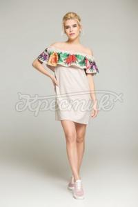 Сукня з воланом на резинці купити