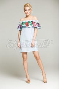 Платье с воланом на резинке купить