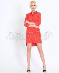 """Червона сукня в сорочковому стилі """"Аватар"""""""